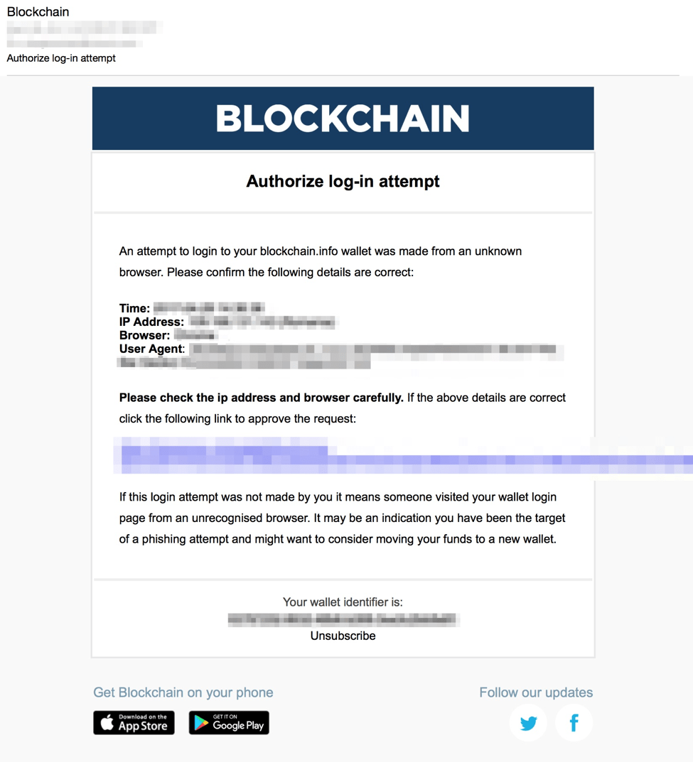 Cryptocurrency Phishing Figure 4
