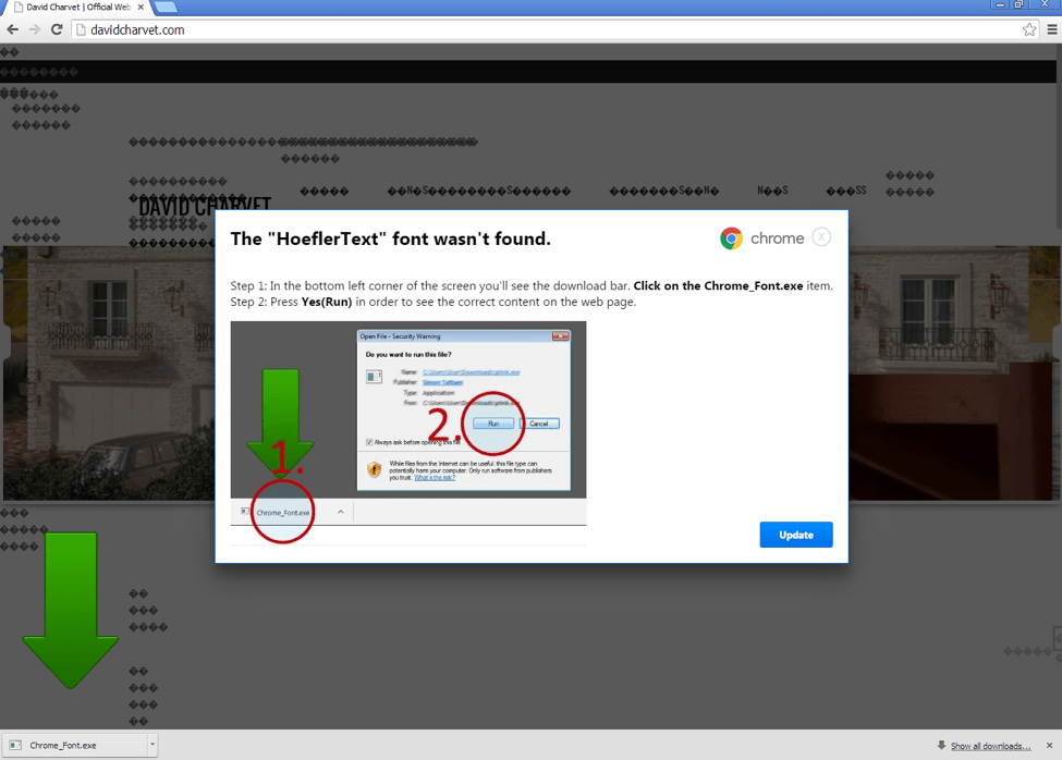 """EITest Nabbing Chrome Users with a """"Chrome Font"""" Social"""