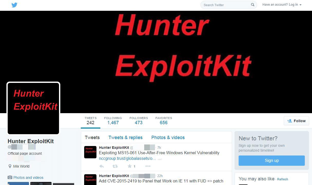 Hunter Exploit Kit Targets Banking Customers | Proofpoint
