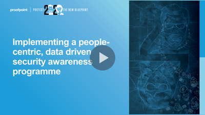 Implementing a people-centric, data driven security awareness programme