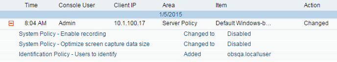 Know if users try to change ObserveIT configuration