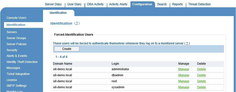Configure ObserveIT to monitor active directory