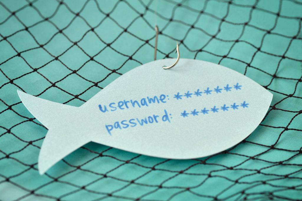 Paper Fish Representing Password Phishing