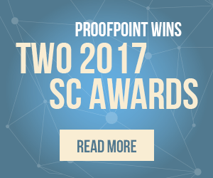 Proofpoint Wins Two 2017 SC Awards