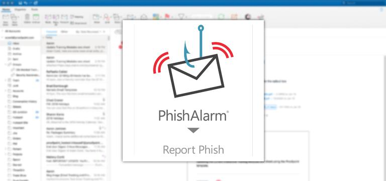 phishalarm phishing button to report phishing