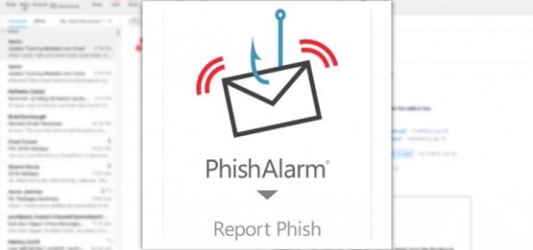 PhishAlarm PopUp