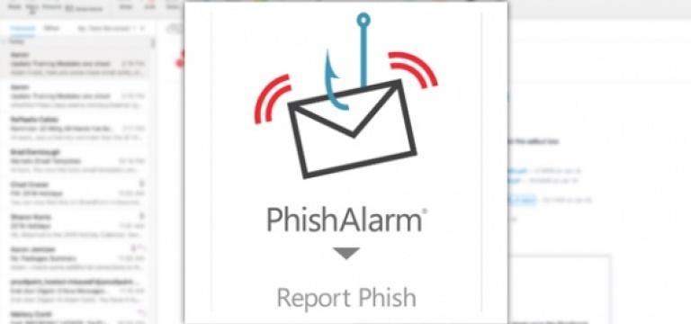 Captura de pantalla del sistema PhishAlarm