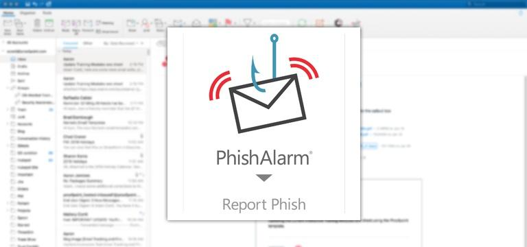 Captura de pantalla del sistema de anti phishing PhishAlarm