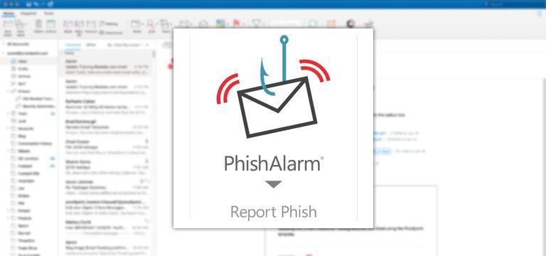 Bouton de signalement du phishing enun clic sur Proofpoint PhishAlarm