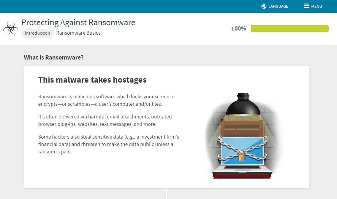 ransomware awareness training